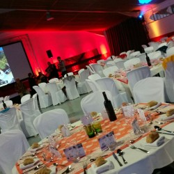 Salle de diner de gala convention