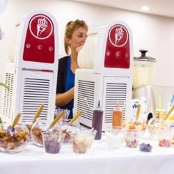 Animation bar à frozen yogurt Courtrai Belgique