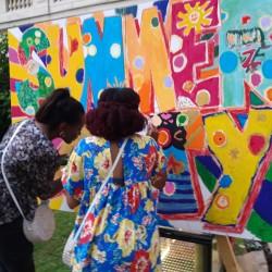 Animation de soirée fresque participative Paris