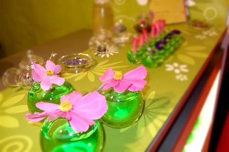 Animation stand salon bar à fleurs Cité congrès Lyon